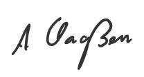 Unterschrift von André Claaßen